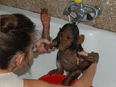 7. Wanza having a shower.JPG