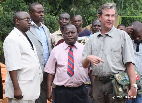Provincial Minister of Environment (left) at J.A.C.K.