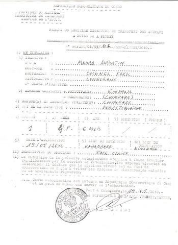 VIDA -permis de légitime détention