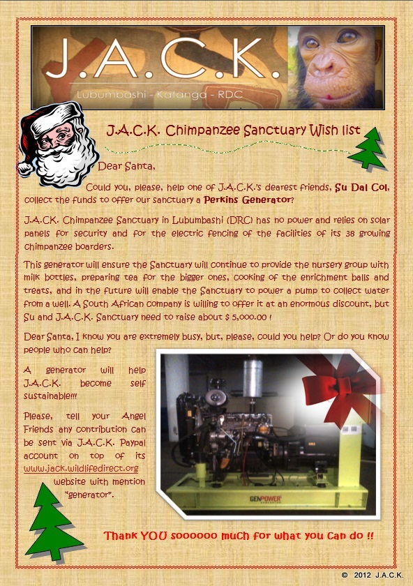 Jack chimpanzee sanctuary blog archive letter to santa so far nearly 150000 has been donated thanks to the kind support of su greg chantal j and her friend laila amy m nathalie w patti c fran b spiritdancerdesigns Image collections